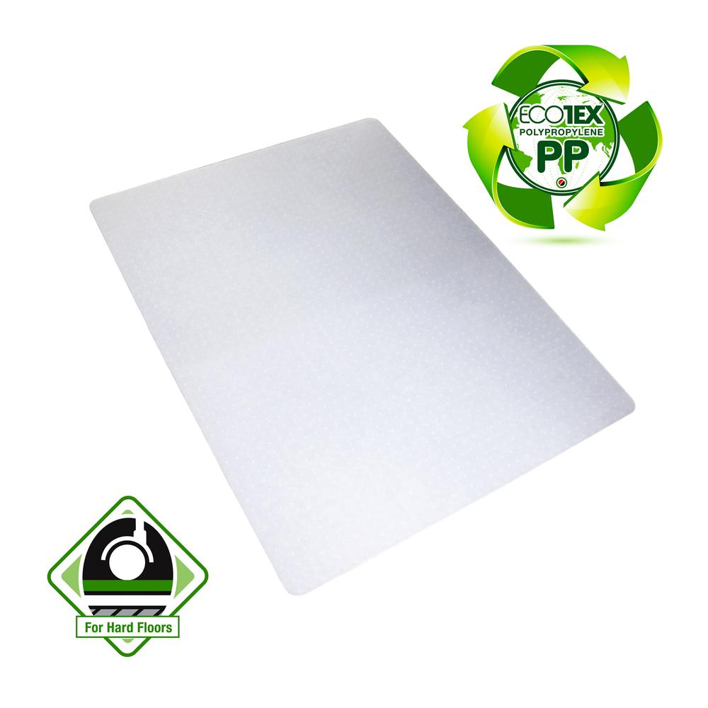 "Ecotex® Polypropylene Rectangular Chair Mat for Carpets - 29"" x 46"". Picture 1"