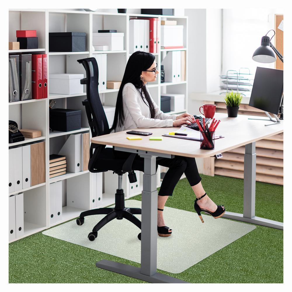 "Ecotex® Polypropylene Rectangular Chair Mat for Carpets - 29"" x 46"". Picture 7"