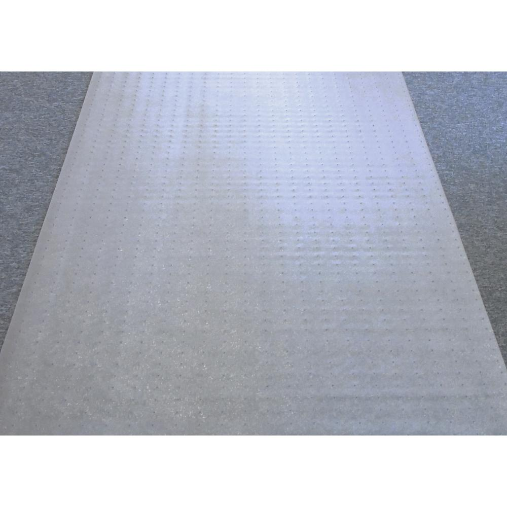"""Floortex Long & Strong Hallway Runner, Clear PVC Carpet Protector Roll Mat, for Standard Pile Carpets, Size 48"""" x 12ft. Picture 2"""