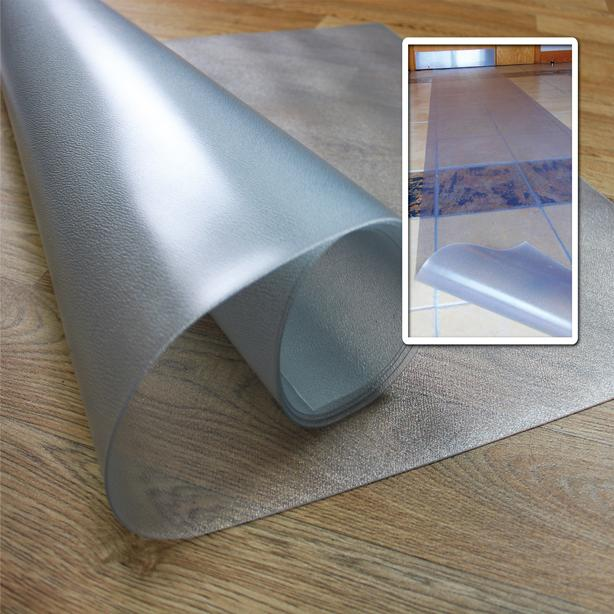 "Floortex Long & Strong Hallway Runner, for Hard Floors, Clear PVC  Floor Protector Roll Mat, Size 27"" x 12ft. Picture 3"