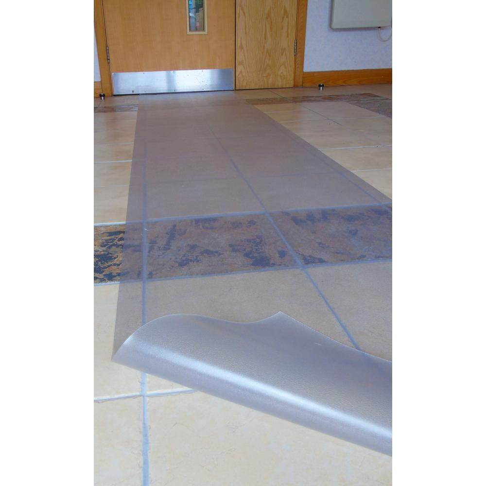 """Floortex Long & Strong Hallway Runner, for Hard Floors, Clear PVC Floor Protector Roll Mat, Size 48"""" x 12ft. Picture 2"""