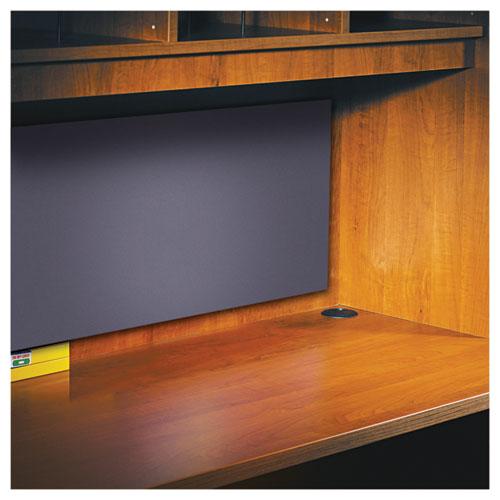 Alera Valencia Tackboard For Open Storage Hutch, 62.38w x 0.5d x 14h, Charcoal. Picture 4