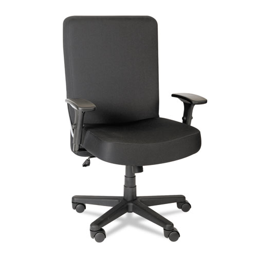 Alera XL Series Big and Tall High-Back Task Chair, Supports up to 500 lbs., Black Seat/Black Back, Black Base. Picture 1