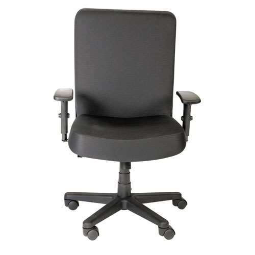 Alera XL Series Big and Tall High-Back Task Chair, Supports up to 500 lbs., Black Seat/Black Back, Black Base. Picture 2