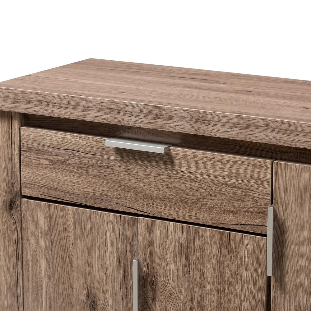 Laverne Modern and Contemporary Oak Brown Finished Shoe Cabinet. Picture 5