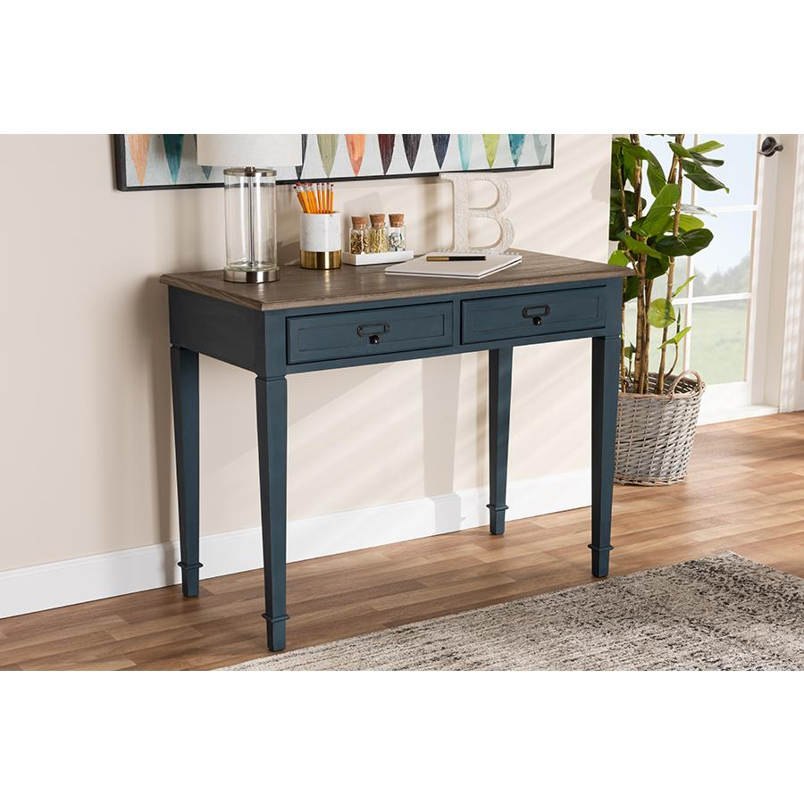 Baxton Studio Dauphine French Provincial Spruce Blue