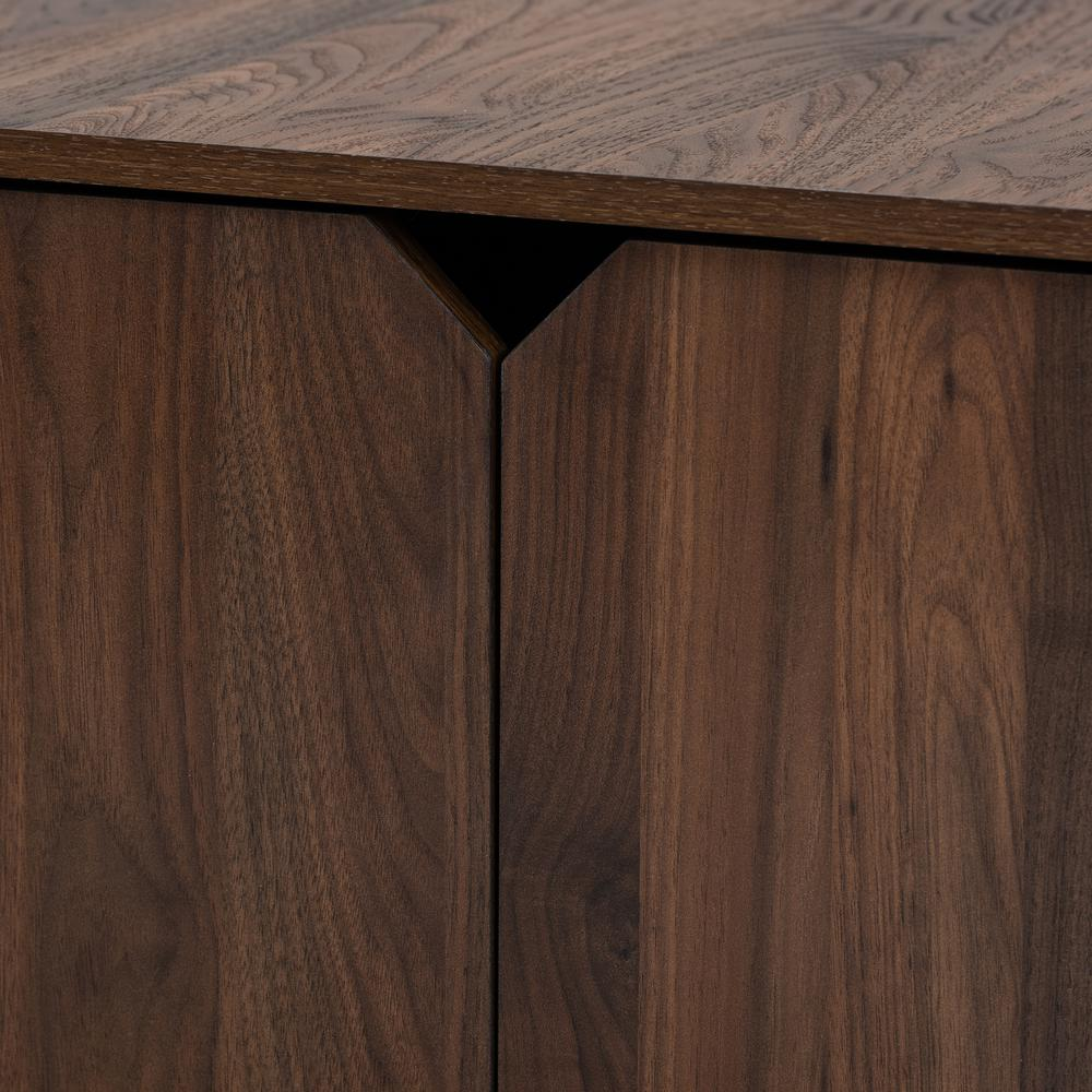 Baxton Studio Jasper Modern and Contemporary Walnut Brown Finished 2-Door Wood Cat Litter Box Cover House. Picture 6