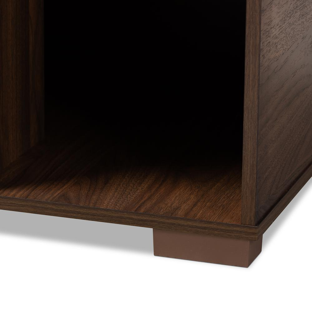 Baxton Studio Jasper Modern and Contemporary Walnut Brown Finished 2-Door Wood Cat Litter Box Cover House. Picture 7