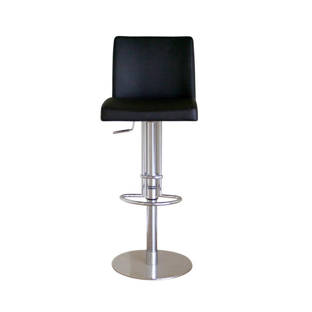 Superb Marcus Black Leather Bar Stool Uwap Interior Chair Design Uwaporg