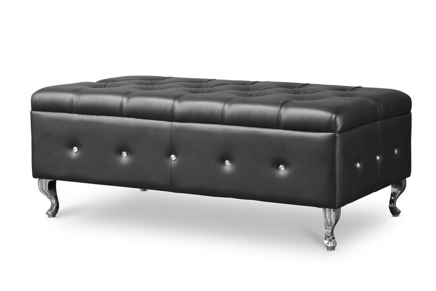 brighton black bedroom bench