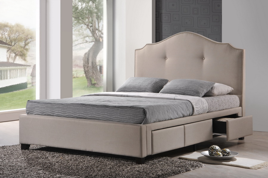 finest selection 7cda4 f6805 Upholstered Headboard Storage Bed - Storage Ideas