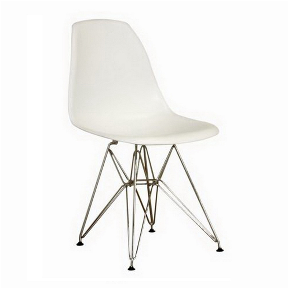 azzo white plastic mid century modern side chair. Black Bedroom Furniture Sets. Home Design Ideas