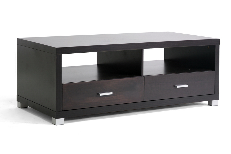 Derwent Modern Tv Stand With Drawers Dark Brown