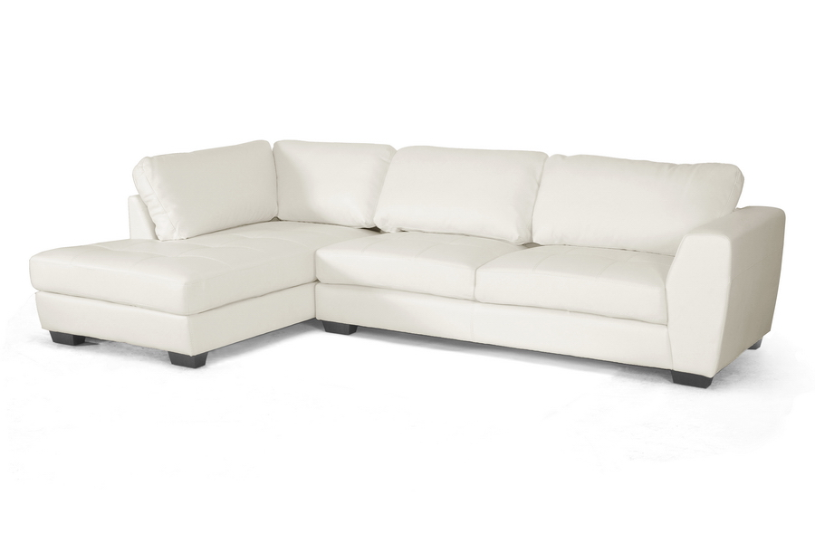 Miraculous Orland White Leather Modern Sectional Sofa Set With Left Facing Chaise Gmtry Best Dining Table And Chair Ideas Images Gmtryco