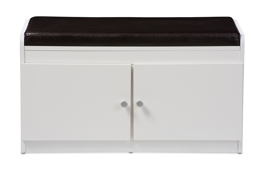 Classic Washed White Wood Cabinet By Urban Port