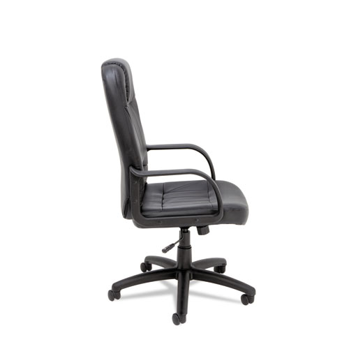 Sparis Executive High-Back Swivel/Tilt Bonded Leather Chair, Supports up to 275 lbs, Black Seat/Black Back, Black Base. Picture 5