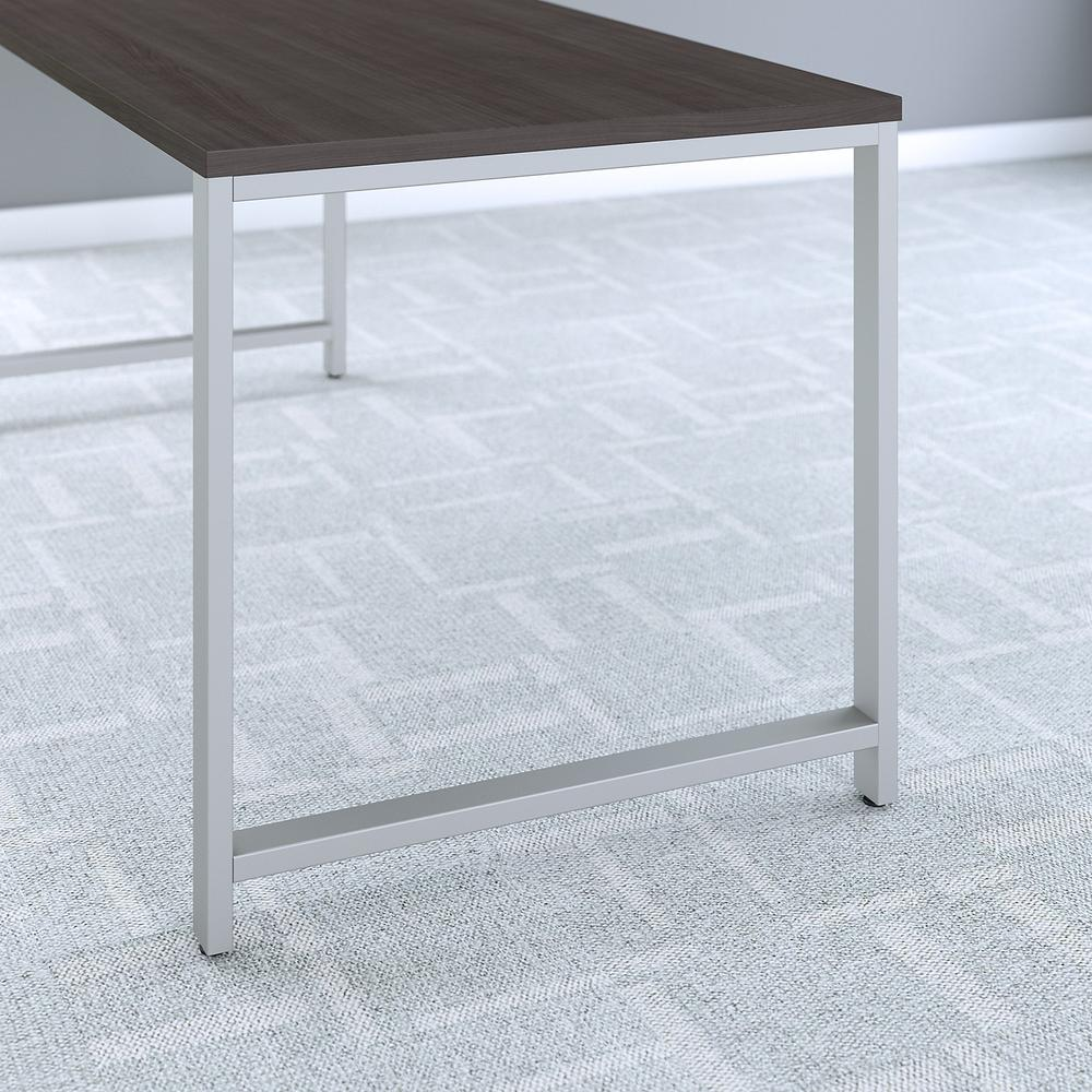 Bush Business Furniture 400 Series 60W x 30D Table Desk with Metal Legs, Storm Gray. Picture 3