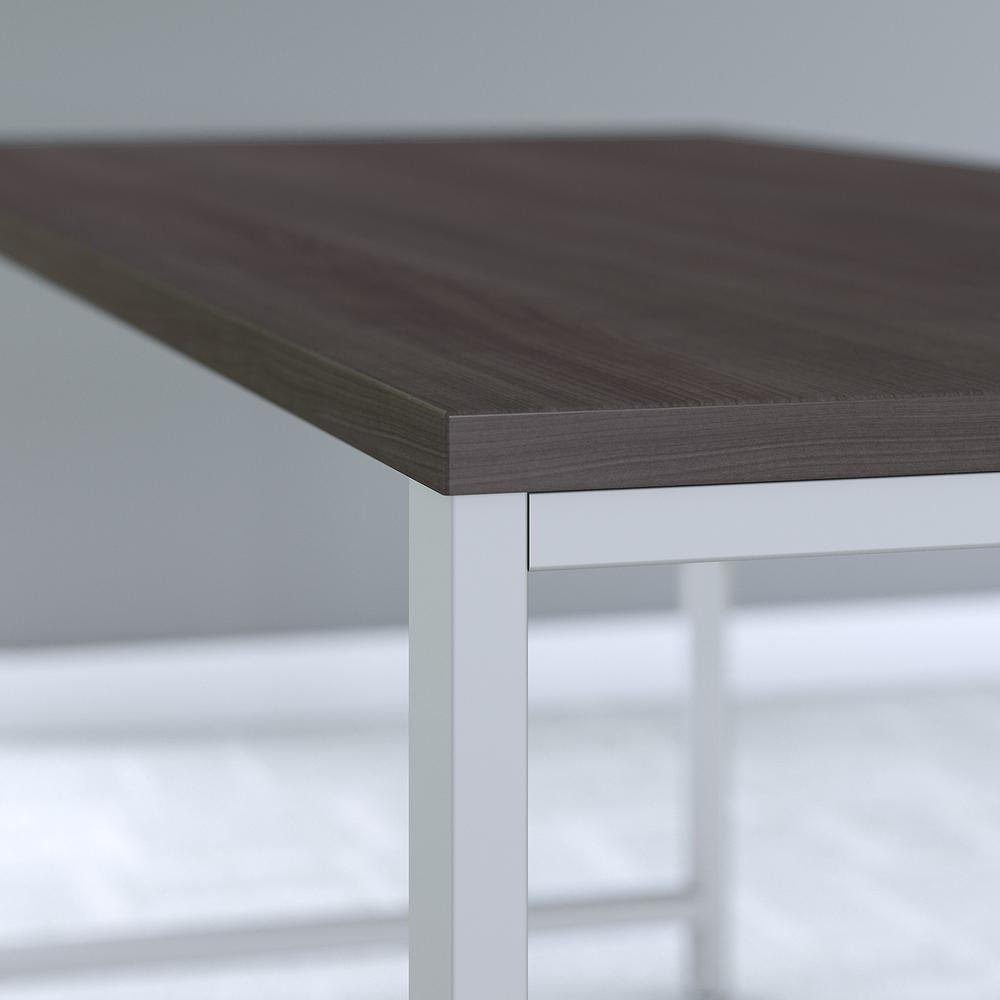 Bush Business Furniture 400 Series 60W x 30D Table Desk with Metal Legs, Storm Gray. Picture 4