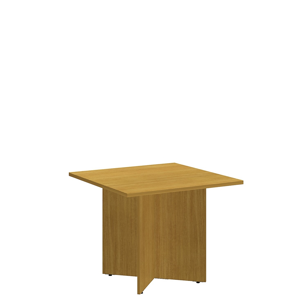 Square Conference Table With Wood Base In Modern Cherry - 36 conference table