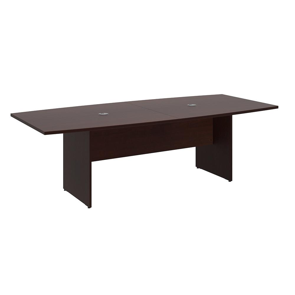 96W x 42D Boat Top Conference Table with Wood Base