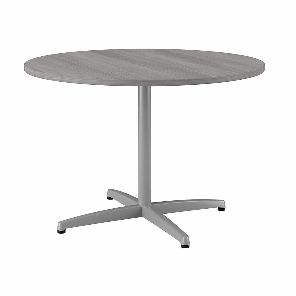Bush Business Furniture 42W Round Conference Table with Metal X Base, Platinum Gray. Picture 1