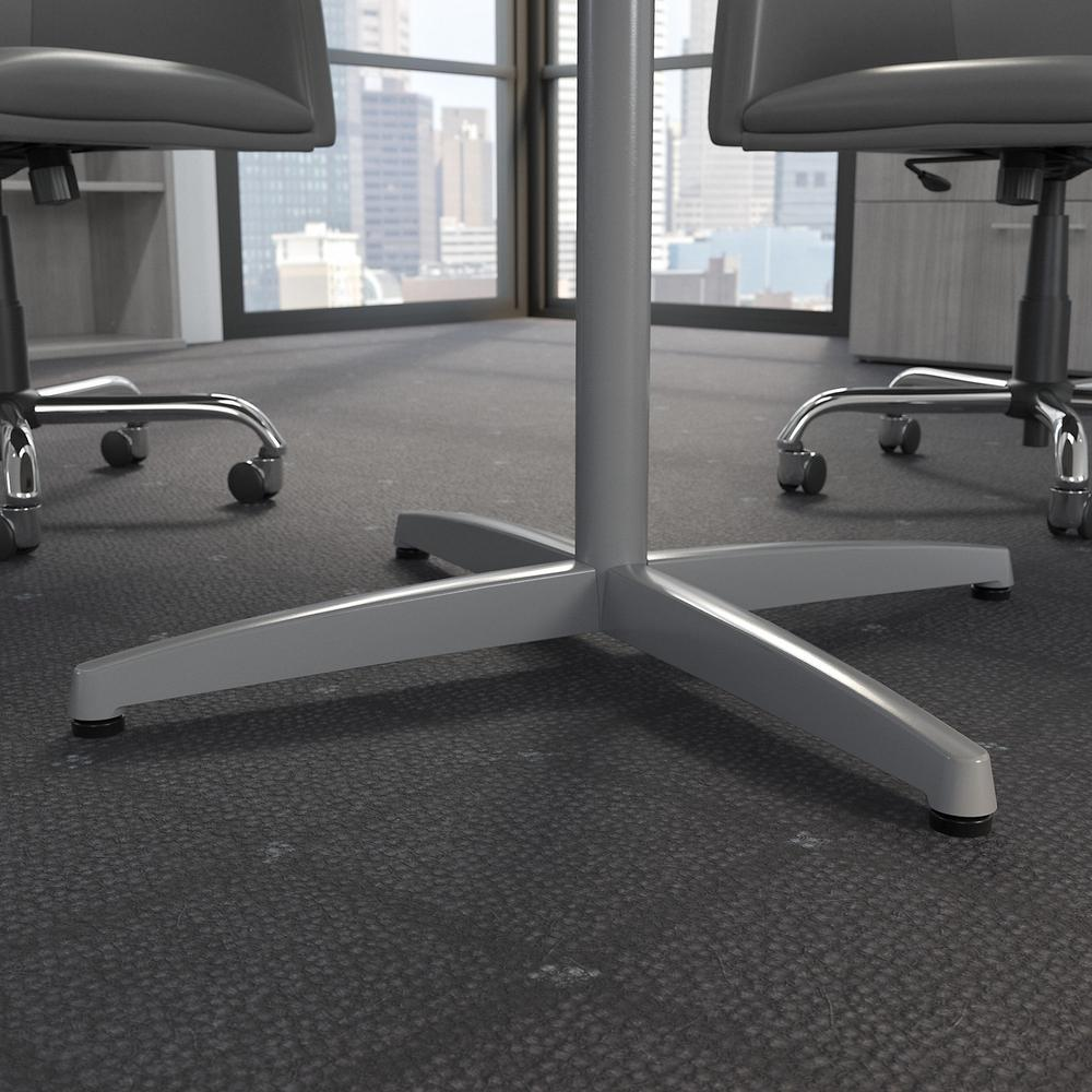 Bush Business Furniture 42W Round Conference Table with Metal X Base, Platinum Gray. Picture 4