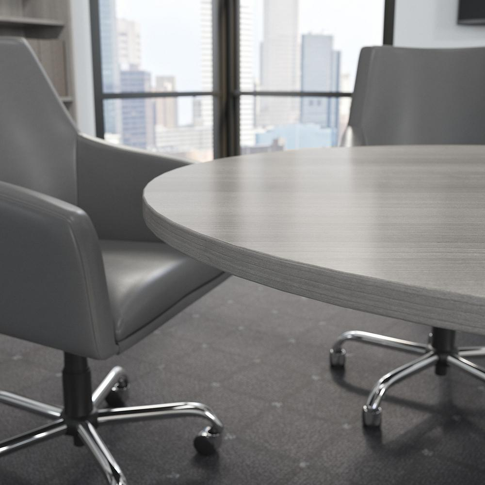 Bush Business Furniture 42W Round Conference Table with Metal X Base, Platinum Gray. Picture 5