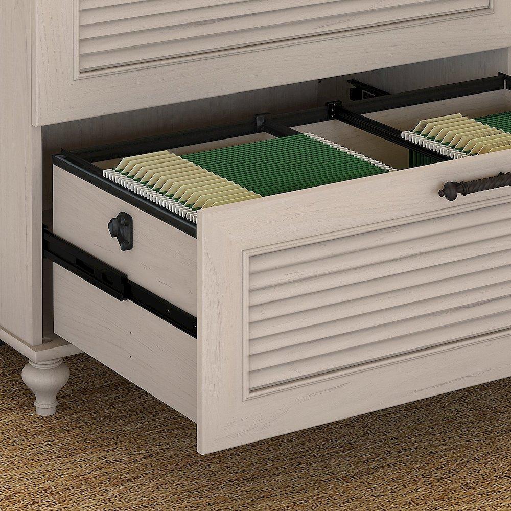 68w X 23d Double Pedestal Desk W Credenza Hutch And Bookcases