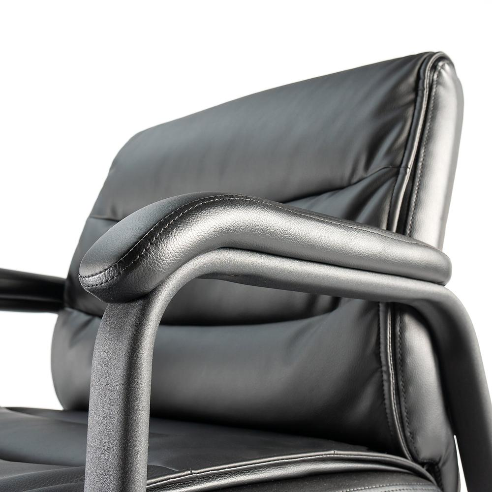 Bush Business Furniture Soft Sense Leather Guest Chair, Black Leather. Picture 4
