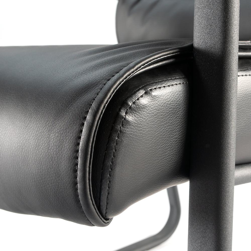 Bush Business Furniture Soft Sense Leather Guest Chair, Black Leather. Picture 5