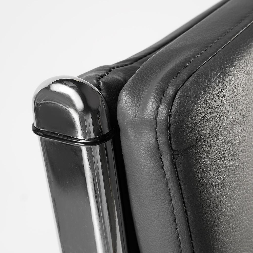 Bush Business Furniture Modelo High Back Leather Executive Office Chair, Dark Gray Leather. Picture 4