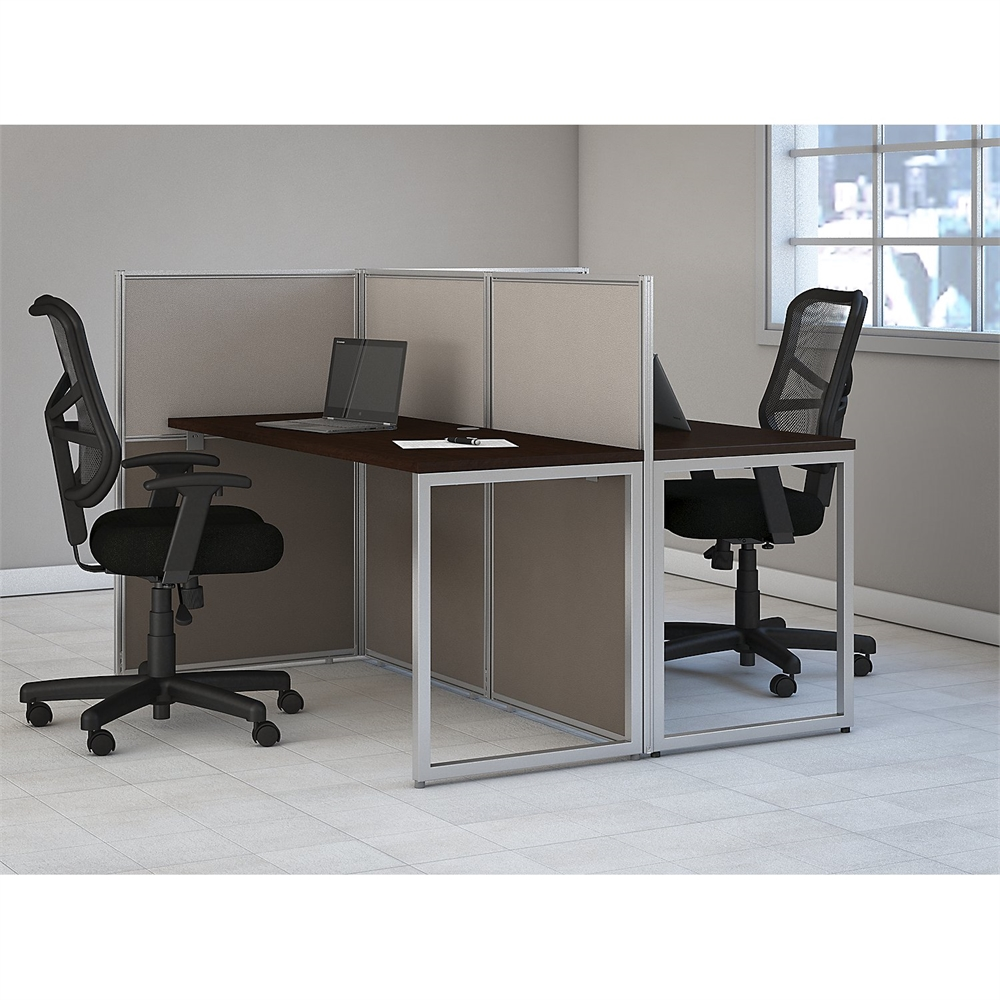 easy office 60w 2 person straight desk open office in. Black Bedroom Furniture Sets. Home Design Ideas