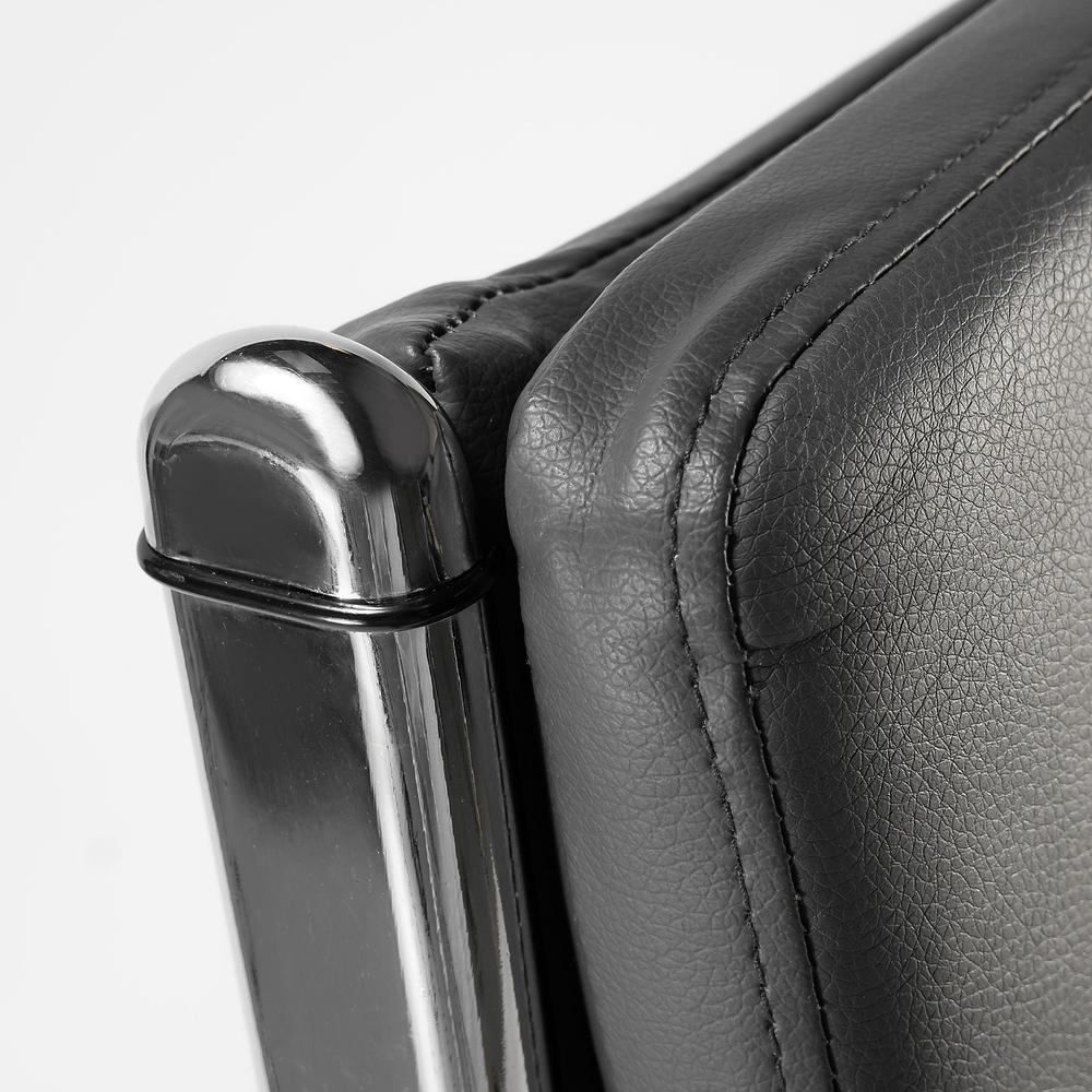 Jamestown High Back Leather Executive Office Chair, Dark Gray Leather. Picture 3