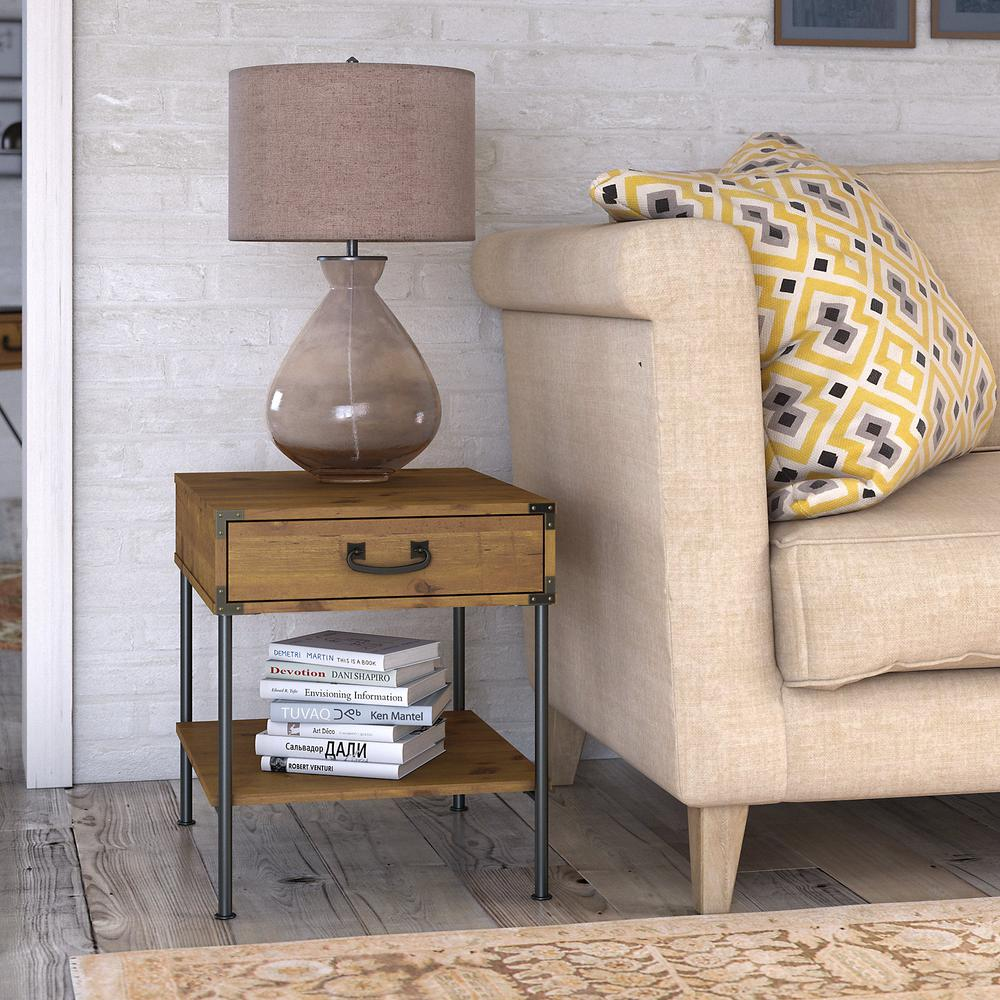 kathy ireland® Home by Bush Furniture Ironworks Set of 2 End Tables
