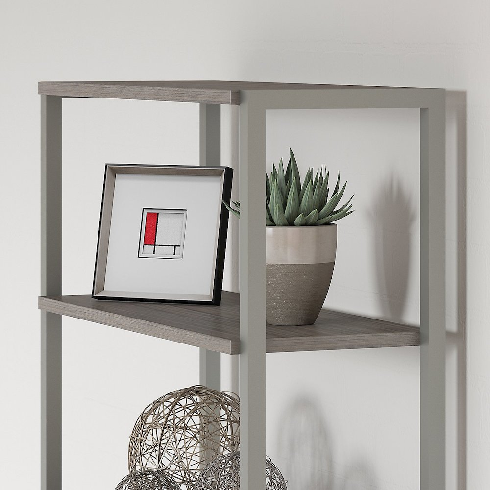 Office by kathy ireland® Method Bookcase with Hutch, Cocoa. Picture 3