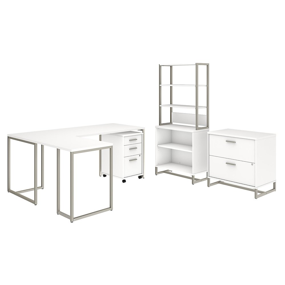 Kensington Dusk Cabinets: Office By Kathy Ireland® Method 72W L Shaped Desk With 30W