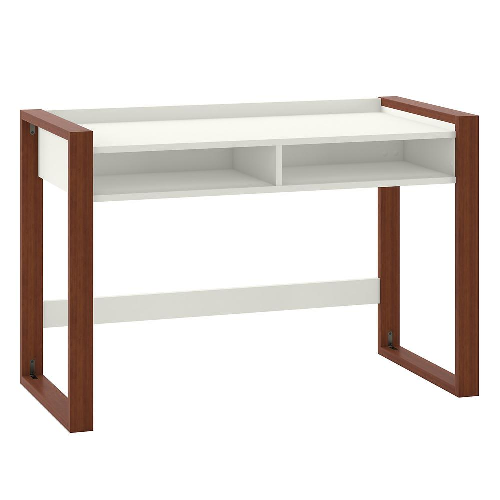 kathy ireland® Home by Bush Furniture Voss 48W x 24D Writing Desk with Shelves