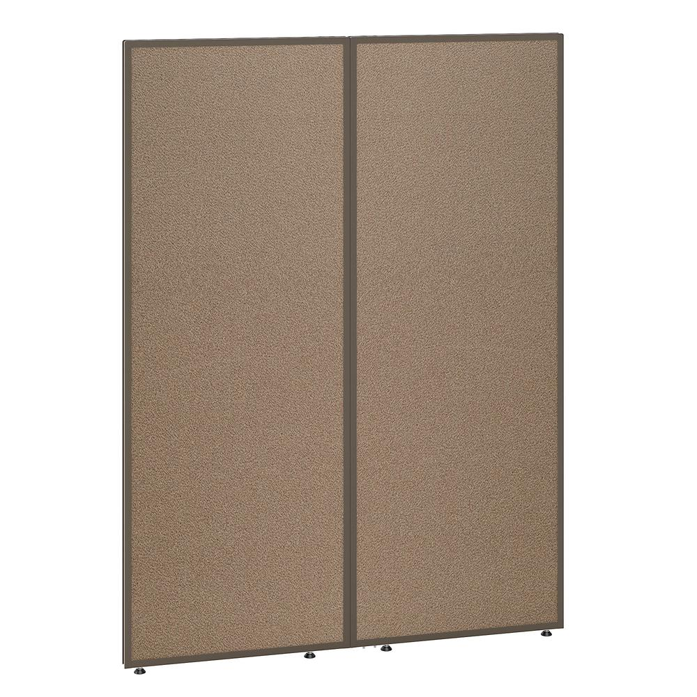Bush Business Furniture ProPanels 66H x 48W Office Partition, Harvest Tan/Taupe. Picture 1