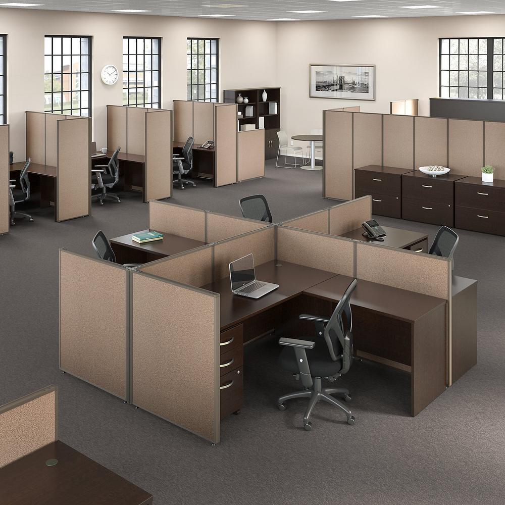 Bush Business Furniture ProPanels 66H x 48W Office Partition, Harvest Tan/Taupe. Picture 2