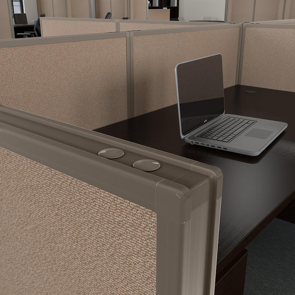 Bush Business Furniture ProPanels 66H x 48W Office Partition, Harvest Tan/Taupe. Picture 3