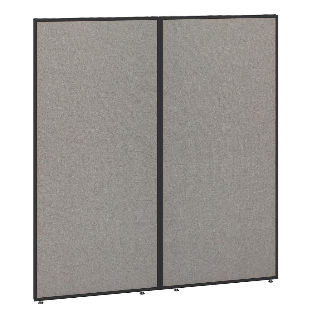 Bush Business Furniture ProPanels 66H x 60W Office Partition, Light Gray/Slate. Picture 1
