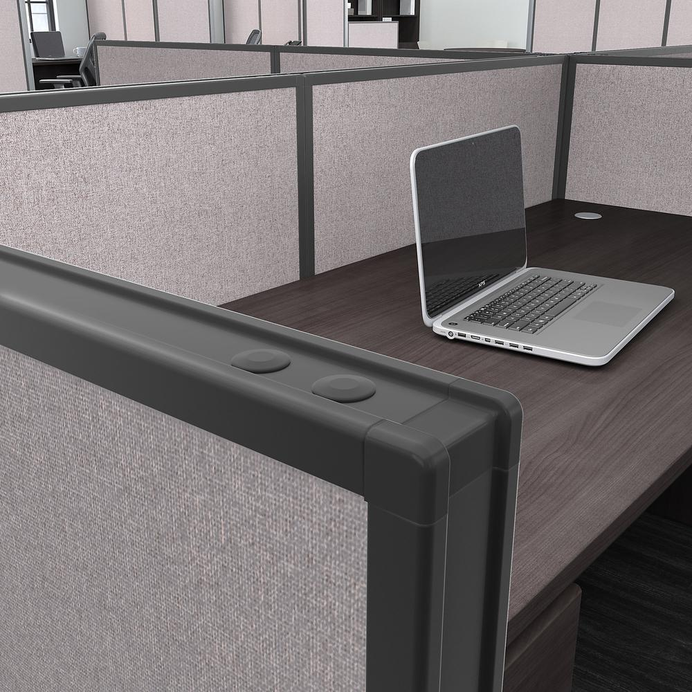 Bush Business Furniture ProPanels 66H x 60W Office Partition, Light Gray/Slate. Picture 3