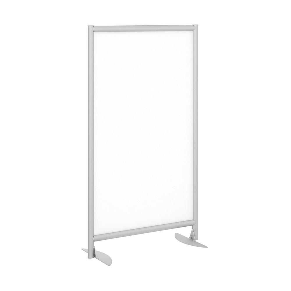 Bush Business Furniture Freestanding White Board Privacy Panel with Stationary Base, White/Anodized Aluminum. Picture 1
