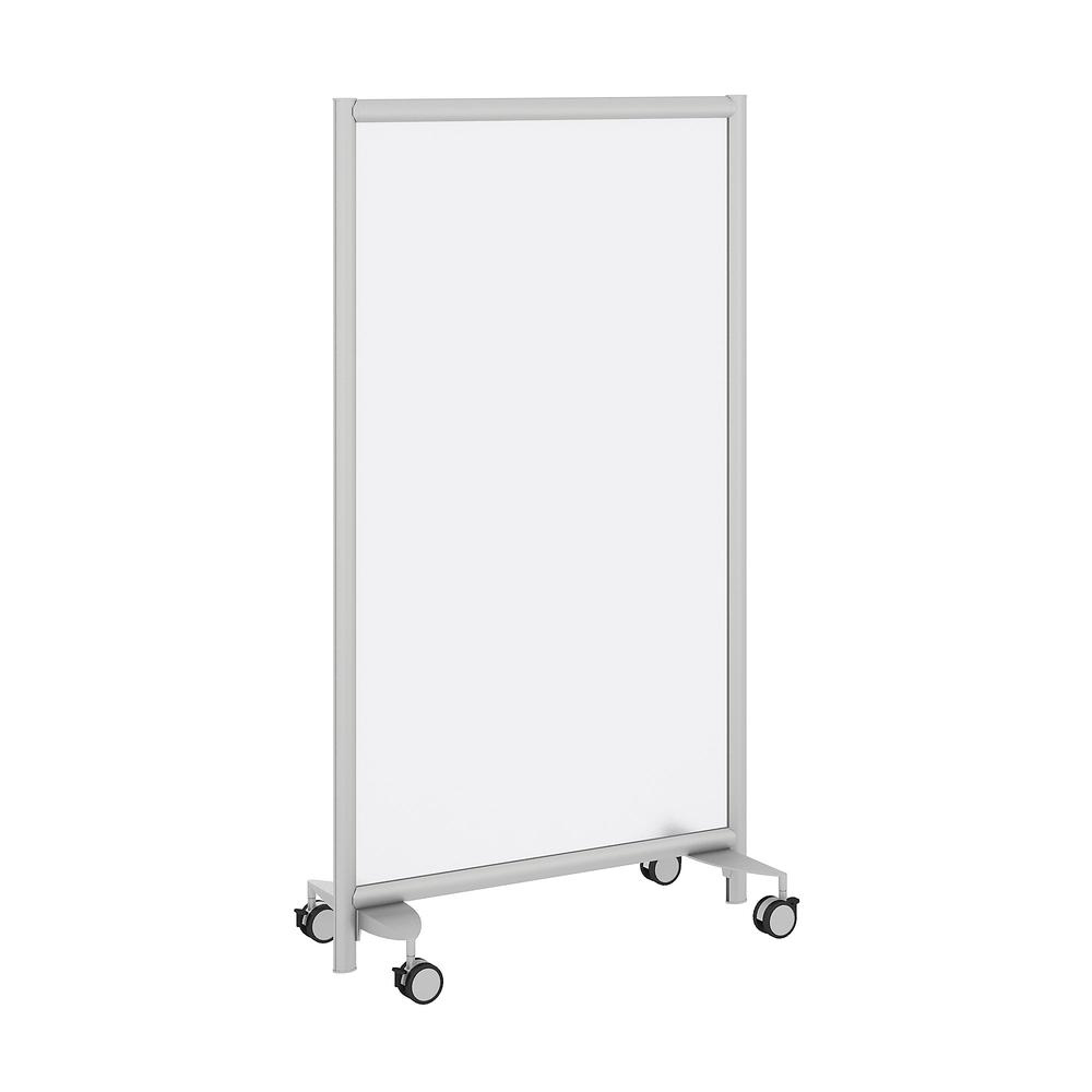 Freestanding Frosted Acrylic Privacy Panel with Wheeled Base