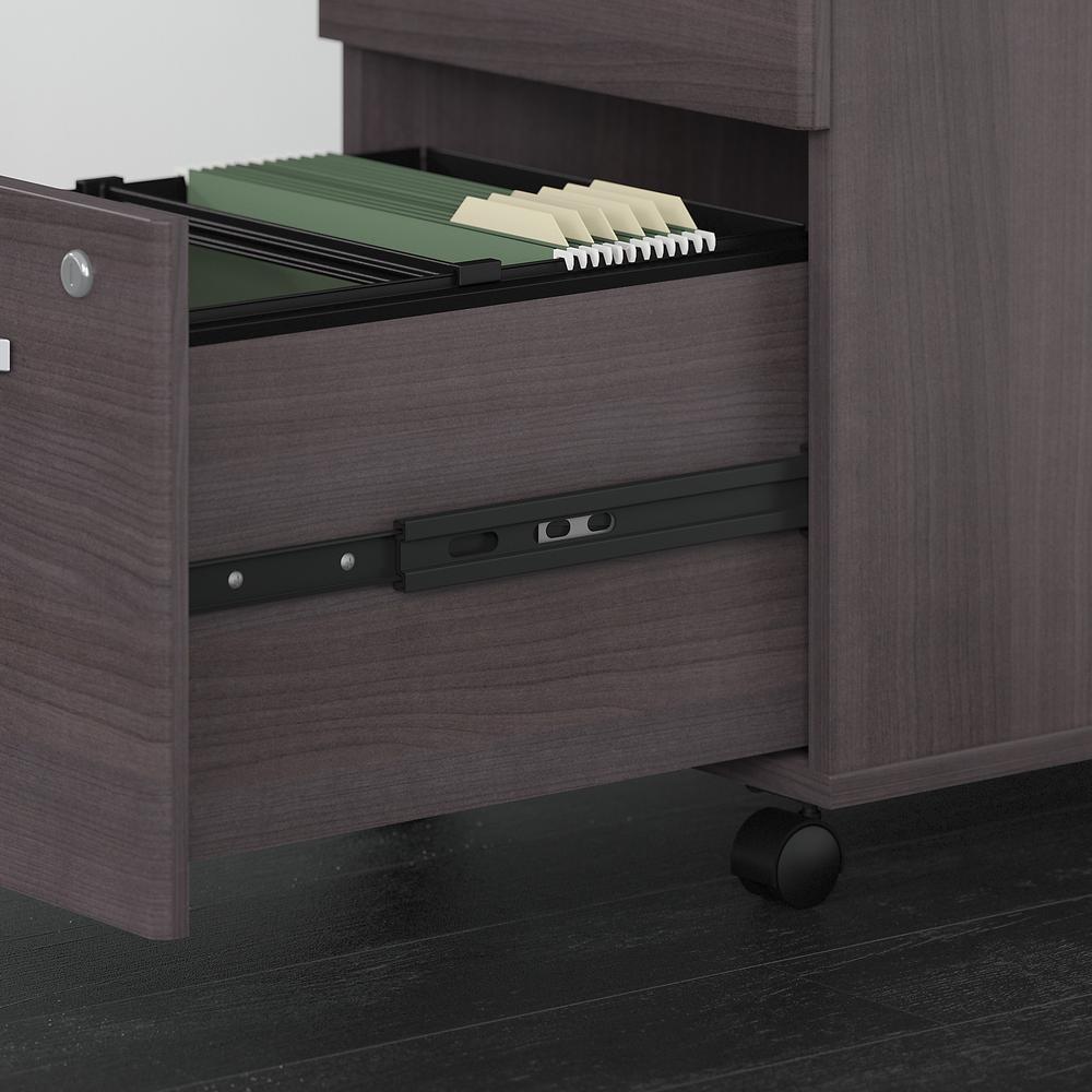Bush Business Furniture Studio C 3 Drawer Mobile File Cabinet, Storm Gray. Picture 3