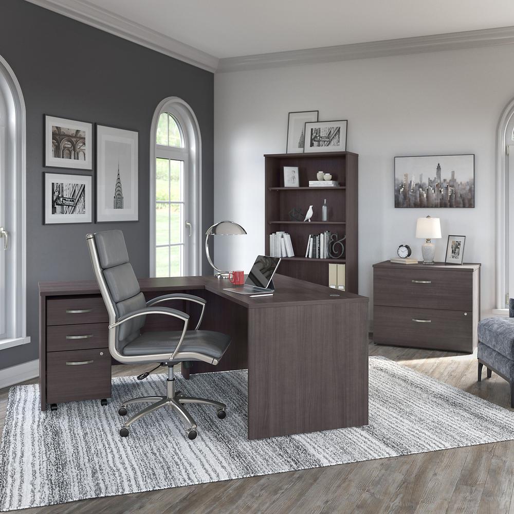 Bush Business Furniture Studio C 3 Drawer Mobile File Cabinet, Storm Gray. Picture 8