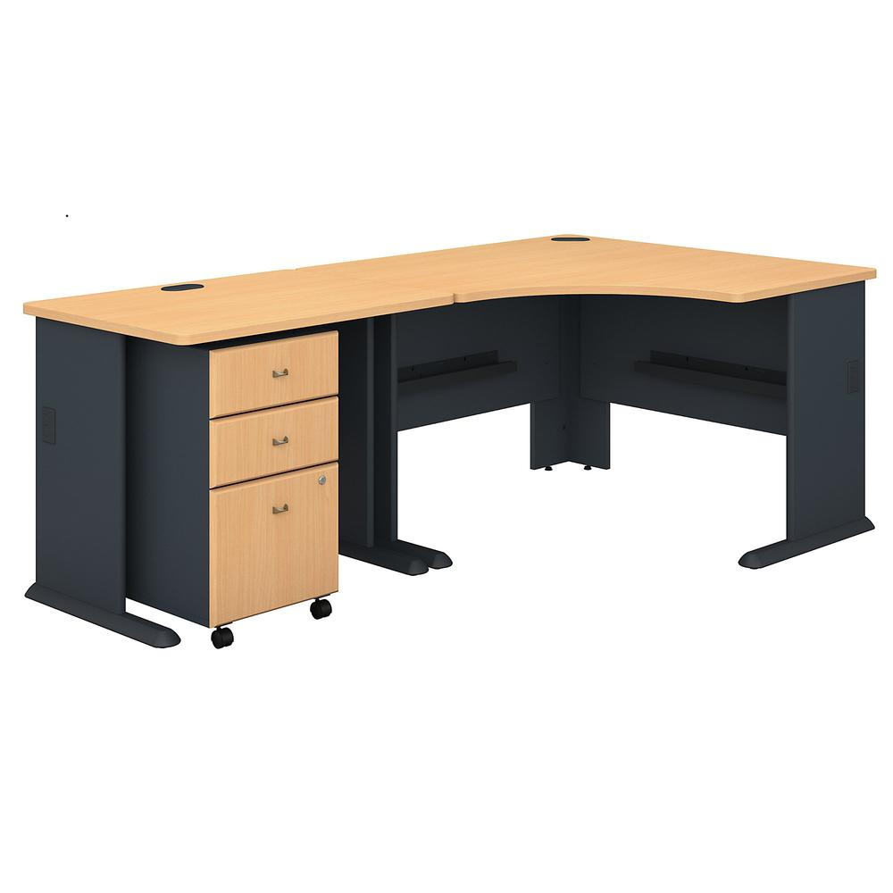 Series A 48w Corner Desk With 36w Return And Mobile File
