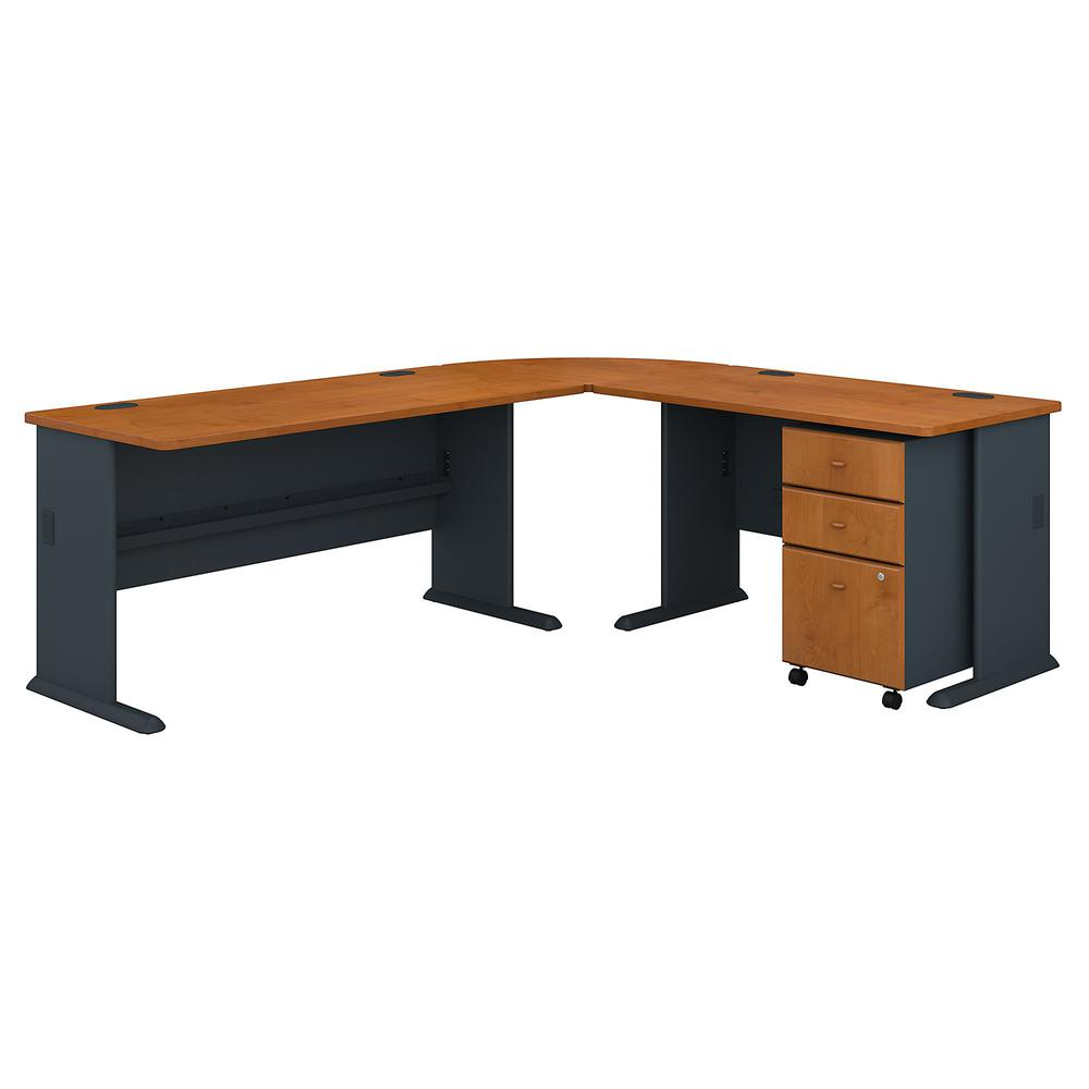 Series A 87w X 75d L Shaped Desk With Mobile File Cabinet