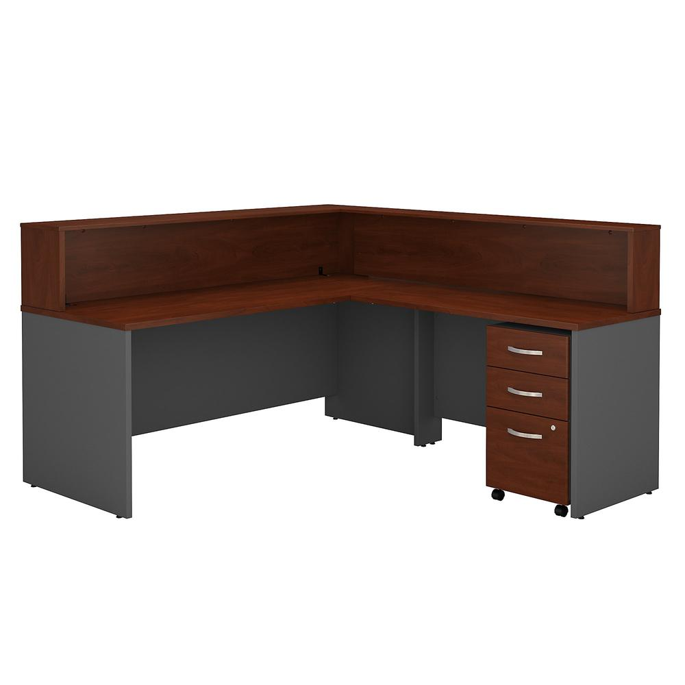 Series c l shaped reception desk with mobile file cabinet for Reception mobile