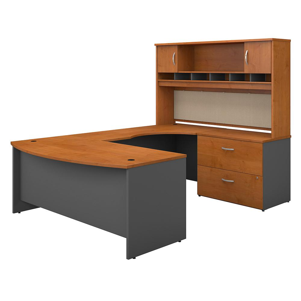 Series C 72w Right Handed Bow Front U Shaped Desk With